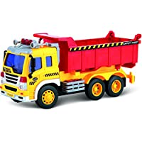 Think Gizmos Friction Toy Dump Truck for Boys & Girls - Toy Dumper Trucks for Toddlers Toy for 2 3 4 5 Year Old Boy Or Girl