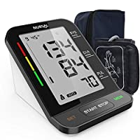 NURSAL Upper Arm Blood Pressure Monitor with Large LCD Screen and 2 Power Sources, Include Portable Carrying Bag&Fit-All Cuff, with 2 Users * 240 Times Memory