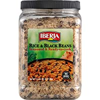 Iberia Rice & Black Beans, 3.4 Lb, Completely Seasoned & Ready to Cook, Low Fat, High Taste, Nutritious & Delicious Rice & Beans
