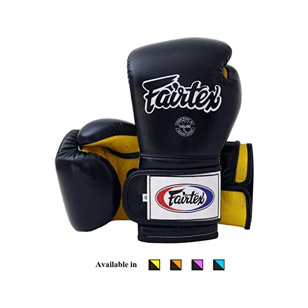 FAIRTEX MUAY THAI KICK BOXING MMA GLOVES BGV9 BLACK WHITE PRO TRAINING MEXICAN
