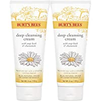 Burt's Bees Soap Bark and Chamomile Deep Cleansing Cream, 6 ounce pack of 2