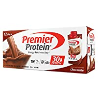 Premier Protein 30g Chocolate Protein Shakes,11 Fluid Ounces, 12 Pack