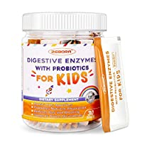 Kids-Probiotics + Digestive-Enzymes Probiotics and Prebiotics Powder for Your Child's Body | Helps Reduces Occasional Gas/Bloating Gluten Free