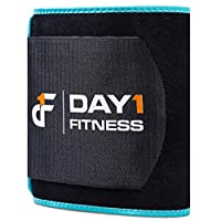 Day 1 Fitness Waist Trimmer Belt for Men / Women – 5 SIZE OPTIONS, SMALL to XXL - Premium Unisex Slimming, Extra-Thick, Latex-Free Neoprene for Weight Loss, Abdominal Training, Durable, Waist Trainer