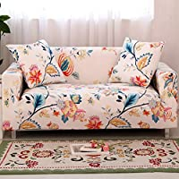 HOTNIU 1-Piece Stretch Sofa Couch Covers - Spandex Printed Loveseat Couch Slipcover - Arm Chair Furniture Cover/Protector with One Free Pillowcase (Loveseat, Pattern #31)