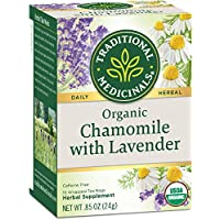 Traditional Medicinals Organic Chamomile with Lavender Herbal Tea, 16 Tea Bags (Pack of 6)