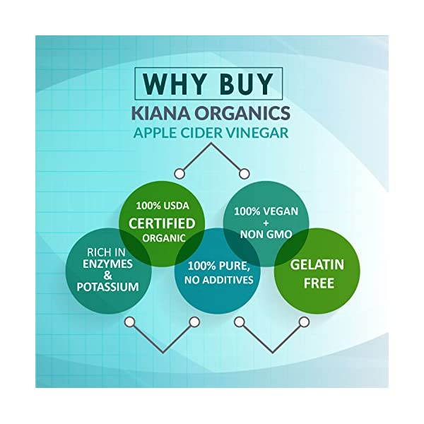 Organic Apple Cider Vinegar Capsules - Pure and Raw ACV Pills for Natural Weight Loss, Detox, Cleanse, Boost Immune System - Keto Friendly Supplement