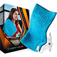 MIGHTY BLISS™ Large Electric Heating Pad for Back Pain and Cramps Relief -Extra Large [12
