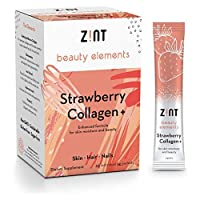 Zint Sweet Marine Collagen Powder Beauty Drink Mix (Strawberry): Sugar-Free Collagen Peptides Drink w/Glucosamine, Hyaluronic Acid, Vitamin C, Acai Extract (30 5g Packets)