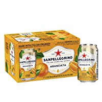 Sanpellegrino Orange Italian Sparkling Drinks, 11.15 fl oz. Cans (6 Count)