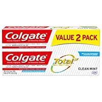 Colgate Total Toothpaste, Clean Mint - 4.8 Oz (2 Pack)
