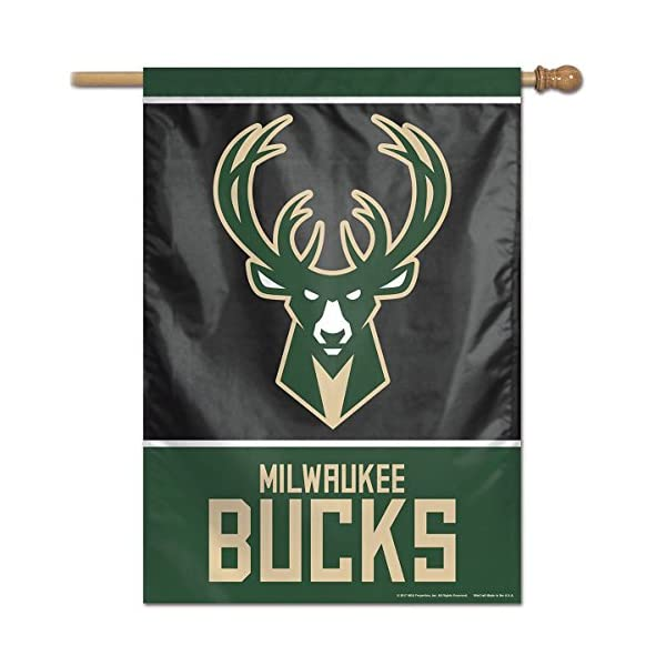 WinCraft Milwaukee Bucks Two Ply and Double Sided House Flag