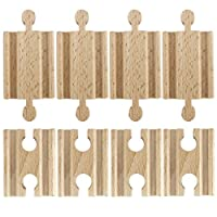 Conductor Carl Set of 8 Male-Male Female-Female Wooden Train Track Adapters, Fits All Major Brands