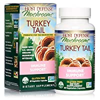 Host Defense, Turkey Tail, 60 Capsules, Natural Immune System and Digestive Support, Daily Mushroom Mycelium Supplement, USDA Organic, 30 Servings