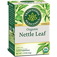 Traditional Medicinals Organic Nettle Leaf Herbal Tea, 16 Tea Bags (Pack of 1)