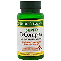 Nature's Bounty B-Complex with Folic Acid Plus Vitamin C, Tablets 150 Each (Pack of 3)