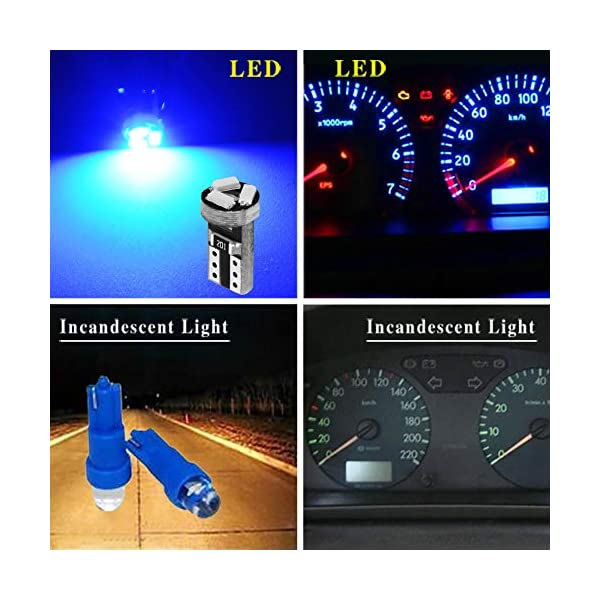 YITAMOTOR 20x T5 3-SMD Instrument Panel Cluster Dash White LED Bulb Light Lamp 74 70 37 17