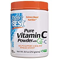Doctor's Best Vitamin C Powder with Quali-C, Healthy Immune System, Brain, Eyes, Heart and Circulation, Joints, Sourced from Scotland, 250G