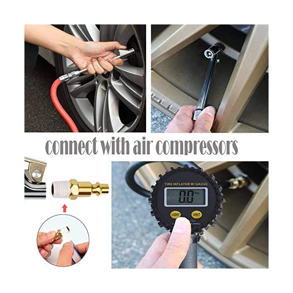 150 PSI Air Tire Inflator with Dual Head Chuck and Backlit LCD for Car Truck RV All Vehicles Auto HEALiNK Digital Tire Inflator with Pressure Gauge