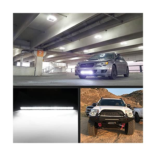 20W Auxiliary Light Pods for Trucks Cars J-e-e-p Off Road Boat Led Motorcycle Driving Lights White Ring Ourbest Dual Halo Led Fog Light