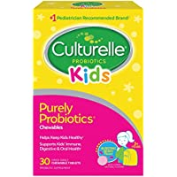 Culturelle Kids Chewable Daily Probiotic for Kids | Natural Berry Flavor Daily Supplement | 30 count | Age 3+ | 100% Naturally Sourced Lactobacillus GG –The Most Clinically Studied Probiotic