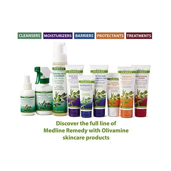 Medline Remedy Skin Repair Cream with Olivamine, 32 oz. bottle, lightly scented, for dry and cracked skin