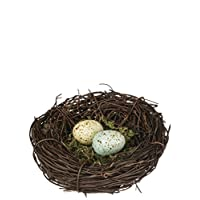 Sullivans Speckled Robin's Egg Blue Yellow Moss 4 Inch Decorative Bird's Nest