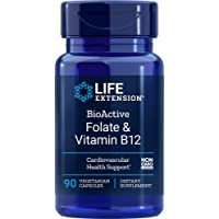 Life Extension Folate & Vitamin B12, 90 Vegetarian Capsules