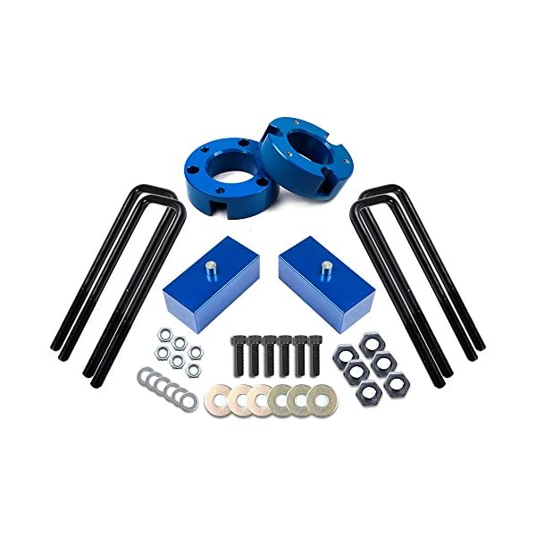 ECCPP Leveling Lift Kit,Raise your vehicle 3 Front+2 Rear Blue Leveling Kit 2WD 4WD fits for 2007 2008 2009 2010 2011 2012 2013 2014 2015 2016 2017 Chevy Silverado 1500 GMC Sierra 1500