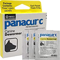 Panacur C Canine Dewormer Treatment Three 1-Gram Packets, Each Packet Treats 10 lbs (One Pack)