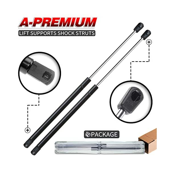 Suburban Two Rear Hatch Liftgate Gas Charged Lift Supports Set For 2000-2004 Yukon Tahoe 2002-2006 Escalade WGS-112-2