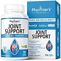 Glucosamine Chondroitin MSM - Clinically Proven Mythocondro 43% Better Absorption - Joint Supplements for Men & Women - Turmeric, Boswellia - Triple Strength, (Shellfish Free, Vegan) 90 Capsules
