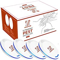 VESPOR Ultrasonic Pest Repeller 4 Pack Pest Reject Electronic Plug in - Pest Control - Best Repellent to get rid of Rodent, Insect & Bugs: Mice Rat Roach Ant Fruit Fly Fleas Mosquito Spider & Bed Bug