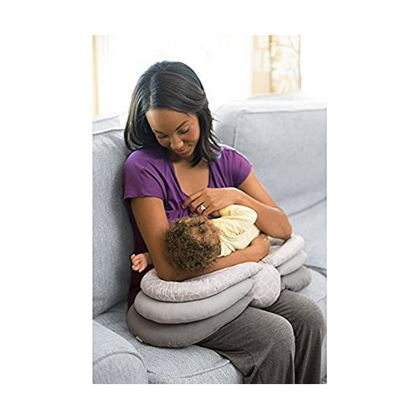 Nahshon Breastfeeding Pillow,Maternity Nursing Pillows for Breastfeeding,Adjustable Height,Baby Breastfeeding Pillow Adjustable Baby Nursing Pillow for 0-12 Months Newborn and Infant
