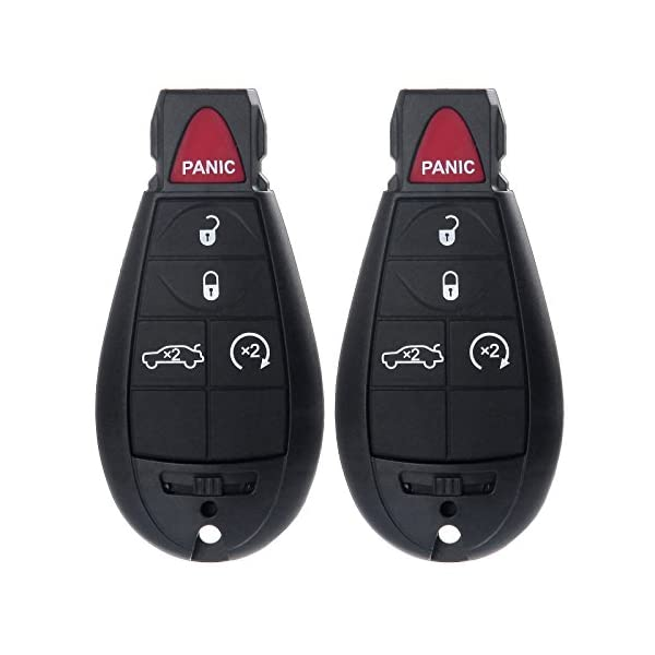 cciyu 1PC Uncut 7 Buttons Keyless Entry Remote Fob Cas Replacement fit for Chrysler 300 Dodge Grand Caravan Journey M3N5WY783X, IYZ-C01C Volkswagen Routan Jeep Commander Grand Cherokee