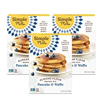 Simple Mills Almond Flour Pancake Mix & Waffle Mix, Gluten Free, Made with whole foods, 3 Count, (Packaging May Vary)