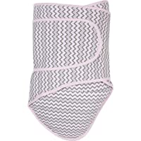 Miracle Blanket Swaddle Wrap for Newborn Infant Baby, Pink Chevron