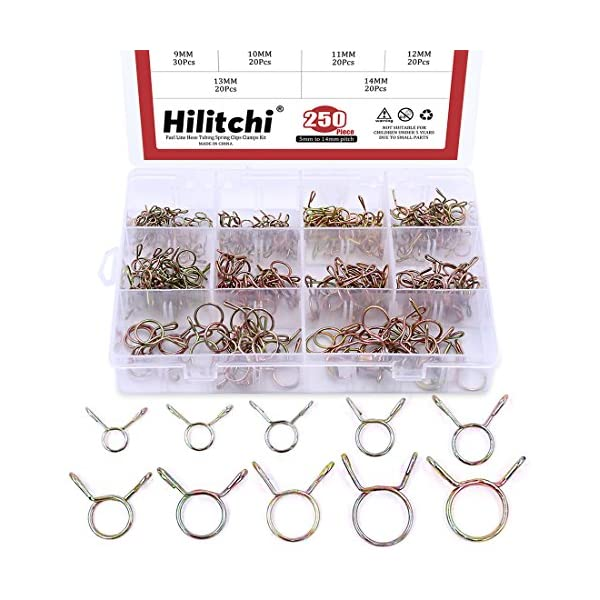 """10pcs 10mm 3//8/""""  Scooter Motorcycle ATV Fuel Line Hose Tubing Spring Clips Clamp"""