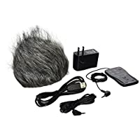 Zoom APH-5 Accessory Pack for H5 Portable Recorder, Includes Remote Control with Extension Cable, USB AC Adapter, and Hairy Windscreen