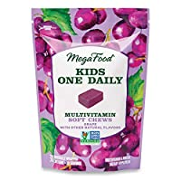 MegaFood, Kids One Daily Soft Chews, Daily Multivitamin, Supports Child Development and Growth, Vegetarian, Grape, 30 Chews (30 Servings)