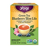 Yogi Tea, Green Tea Blueberry Slim Life, 16 Count