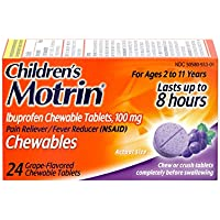 Children's Motrin Children's Motrin Ibuprofen Chewable Tablets for Pain & Fever, Grape, 24 Ct, 24 Count