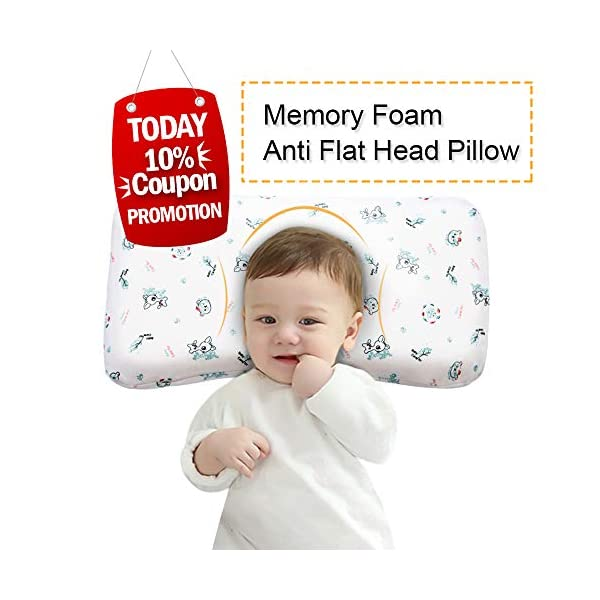 Humble Baby Head Shaping Pillow Perfect for Newborn and Infant Prevent Flat Head Syndrome Memory Foam Hypoallergenic Soft Plagiocephaly Breathable with Organic Cotton Cover