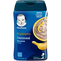 Gerber Baby Cereal Probiotic Oatmeal & Banana Baby Cereal 8 Ounces (Pack of 6)