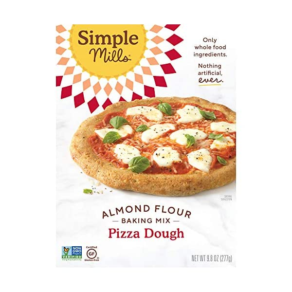 Simple Mills Almond Flour, Cauliflower Pizza Dough Mix, Gluten Free, Made with whole foods, 3 Count (Packaging May Vary)
