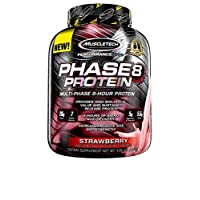 MuscleTech Phase8 Protein Powder, Sustained Release 8-Hour Protein Shake, Strawberry, 4.6 Pound