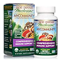 Host Defense, MyCommunity Capsules, Advanced Immune Support, Mushroom Supplement with Lion's Mane, Reishi, Vegan, Organic, 60 Capsules (30 Servings)