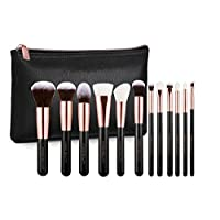 Arose Beauty Rose Gold Luxury Brush Set 12pc Makeup Face & Eye Essentials   Premium Quality Handcrafted Soft and Plush
