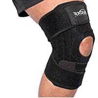 EXOUS Knee Brace Support Protector - Relieves Patella Tendonitis - Jumpers Knee Mensicus Tear - ACL Lateral & Medial Ligament Sprains Comfort Design True Non-Slip FIT for Arthritis - Sport - Running