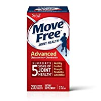 Glucosamine & Chondroitin Advanced Joint Health Supplement Tablets, Move Free (200 count in a bottle), Supports Mobility, Flexibility, Strength, Lubrication and Comfort